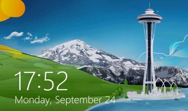 Lock screen in Windows 8.1