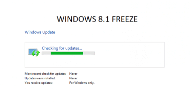 FIX: Windows 8.1 freeze checking for updates