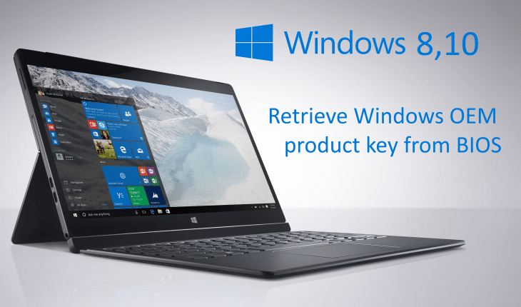 Retrieve Windows OEM product key from BIOS - WindowsPRO eu