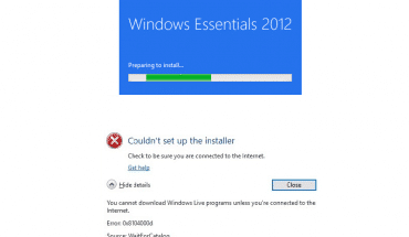 FIX: Windows Essentials 2012 setup error 0x800c0006